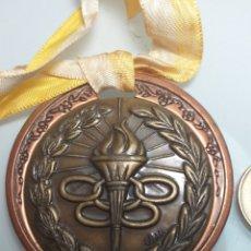Coleccionismo deportivo: GRAN MEDALLA DE BRONZE OLIMPICA ANTORCHA - FIRMADA CABRION. Lote 203245845