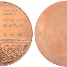 Coleccionismo deportivo: MEDALLA, DE BRONCE O DE ORO SIN DORAR. COBRE PULIDO. OLIMPIADAS 1992. PRUEBA. SIN CIRCULAR. SC. Lote 203583797