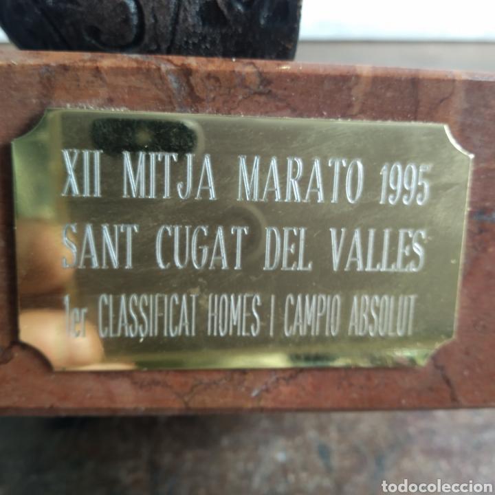 Coleccionismo deportivo: copa trofeo Marato San Cugat del Vallés 1995 1°clasificat - Foto 2 - 203965857