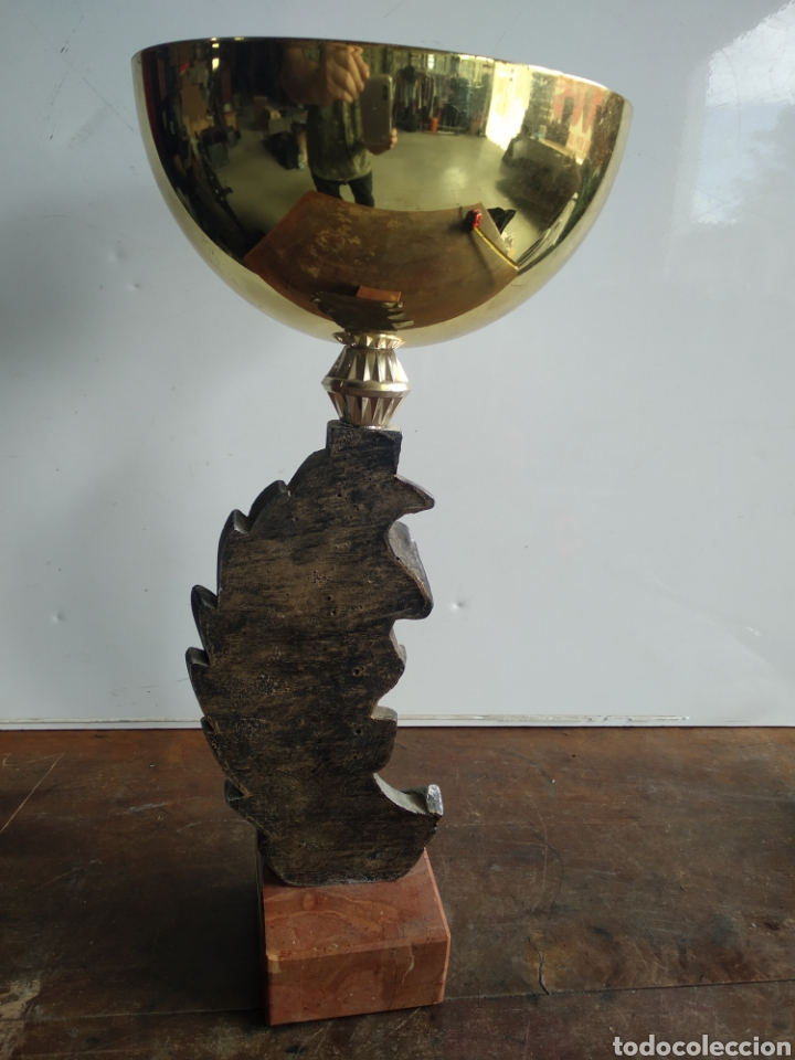 Coleccionismo deportivo: copa trofeo Marato San Cugat del Vallés 1995 1°clasificat - Foto 3 - 203965857