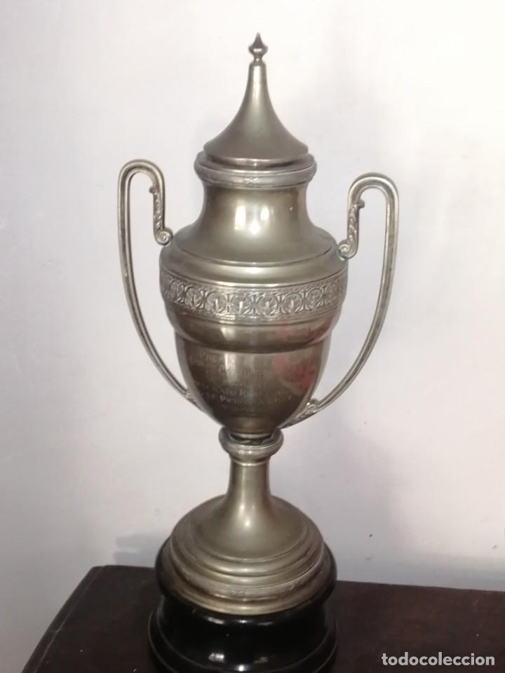Coleccionismo deportivo: Copa Trofeo tiro al pichón sagunto 1930 - Foto 6 - 206376580