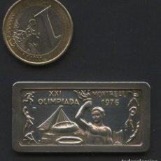 Coleccionismo deportivo: LINGOTE DE PLATA CONMEMORATIVO, XXI OLIMPIADA MONTREAL, OLIMPIA 726 A.C., NUMERADOR, SILVER. Lote 207010730