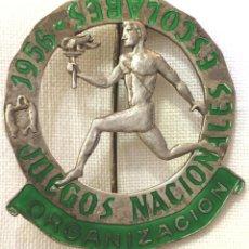 Collectionnisme sportif: MEDALLA DE LA ORGANIZACIÓN - JUEGOS NACIONALES ESCOLARES - AÑO 1956 - FALANGE - SEU. Lote 208038540