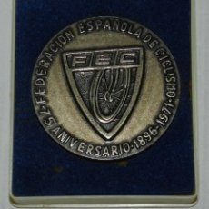 Collectionnisme sportif: MEDALLA DE LA FEDERACION ESPAÑOLA DE CICLISMO, 75 ANIVERSARIO 1896-1971, FEC, MIDE 5,5 CMS. EN SU CA. Lote 209794973