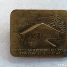 Coleccionismo deportivo: MEDALLA SUIZA, FETE CANT. BERNOISE DES JODLFRE, TRAMELAN, 22 JUIN 1947. Lote 210625128