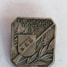 Coleccionismo deportivo: MEDALLA SUIZA, TIR JURASSIEN TRAMELAN, AÑO 1936. Lote 210632761