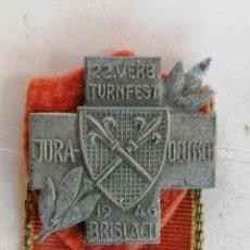 Coleccionismo deportivo: INSIGNIA 22 VERB-TURNFEST, JURA - DEUTSCH, AÑO 1946. Lote 210633736