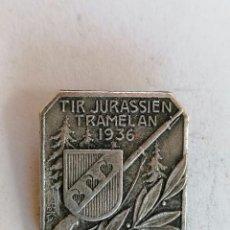 Coleccionismo deportivo: MEDALLA SUIZA, TIR JURASSIEN TRAMELAN, AÑO 1936. Lote 211928016