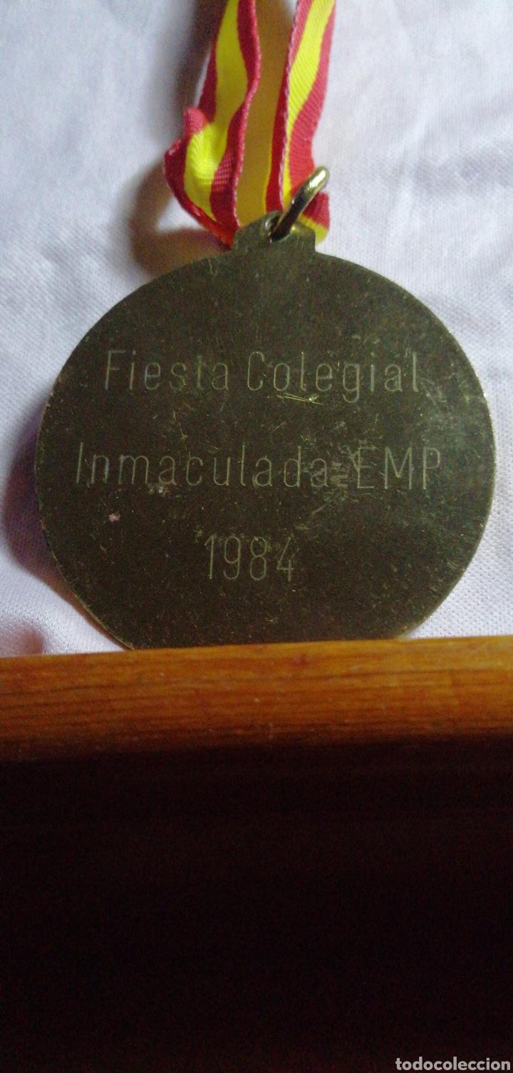 Coleccionismo deportivo: ANTIGUA MEDALLA DE COMPETICIÓN DORADA - Foto 2 - 216500311