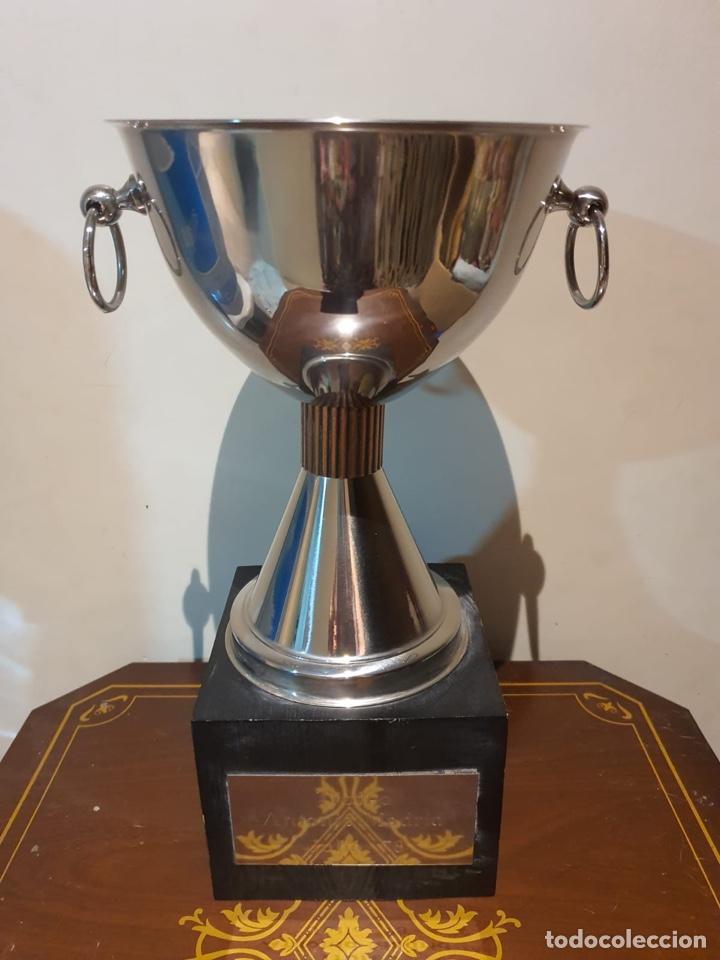 Coleccionismo deportivo: Antiguo trofeo tiro al plato - Foto 2 - 216778722