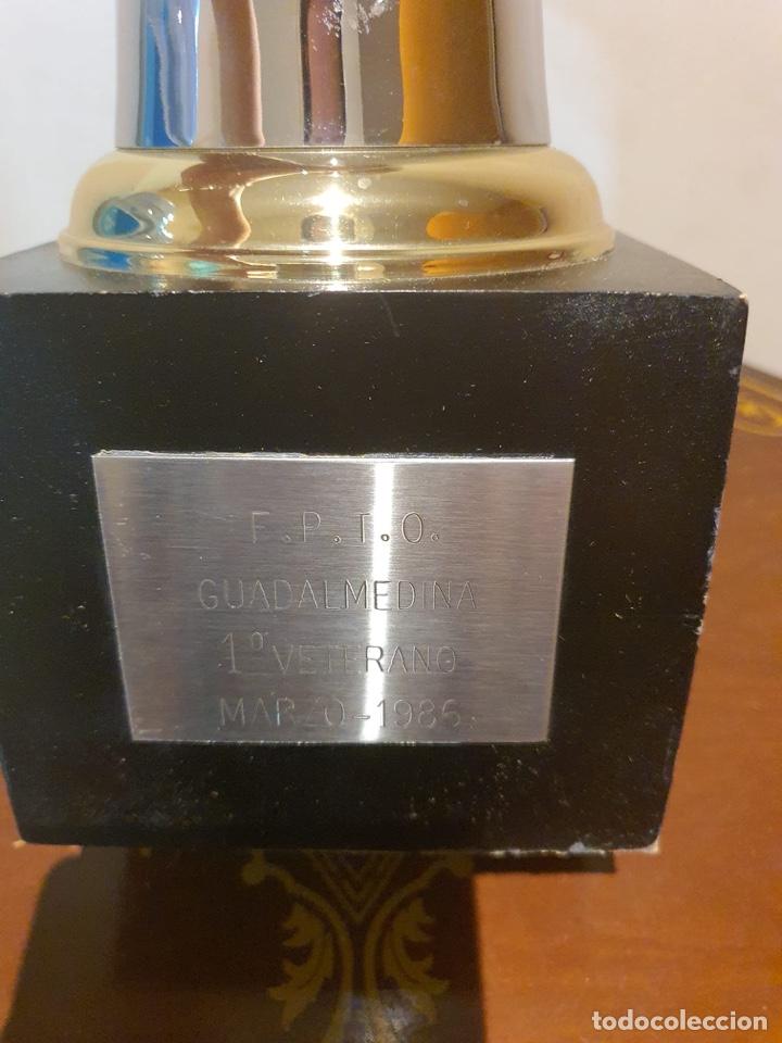 Coleccionismo deportivo: Antiguo trofeo tiro al plato - Foto 2 - 216778946