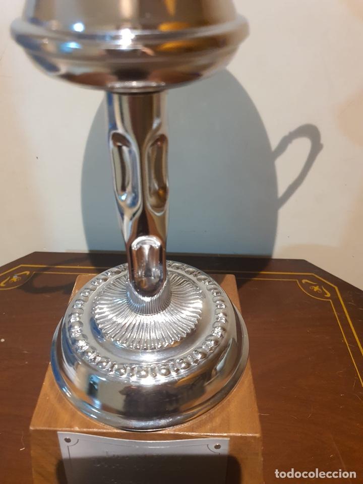 Coleccionismo deportivo: Antiguo trofeo tiro al plato - Foto 3 - 216779153