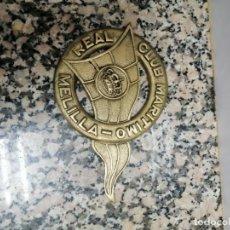 Coleccionismo deportivo: PLACA REAL CLUB MARITIMO MELILLA. Lote 220808736