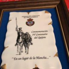 Collectionnisme sportif: LOTE DE 2 METOPAS FEDERACIÓN DE TIRO ANDALUZ, PORCELANA. Lote 230256345