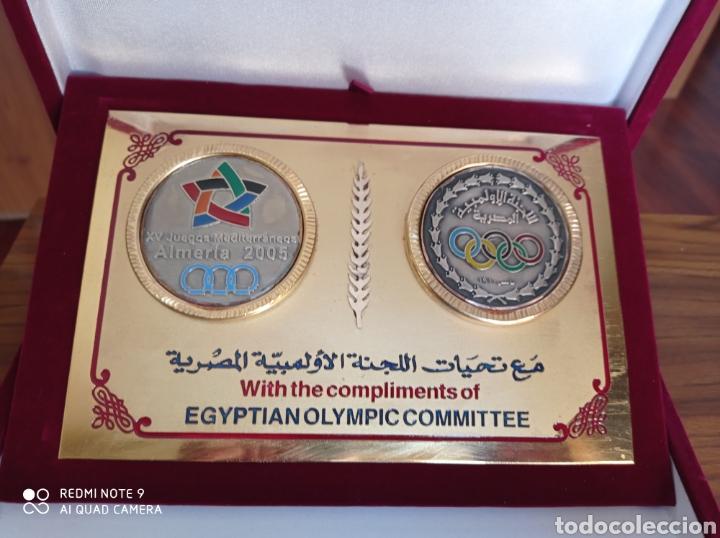 Coleccionismo deportivo: ALMERÍA JUEGOS MEDITERRÁNEOS 2005 PLACA OFICIAL COMITE OLIMPICO EGIPTO - Foto 2 - 235634745