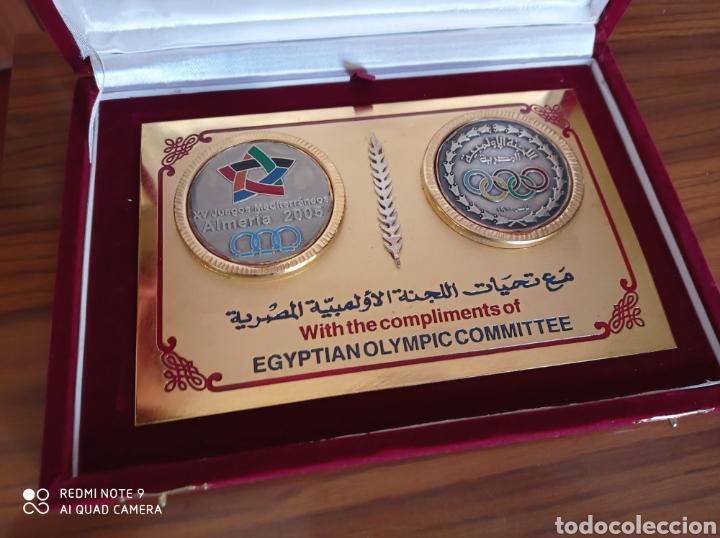 Coleccionismo deportivo: ALMERÍA JUEGOS MEDITERRÁNEOS 2005 PLACA OFICIAL COMITE OLIMPICO EGIPTO - Foto 3 - 235634745