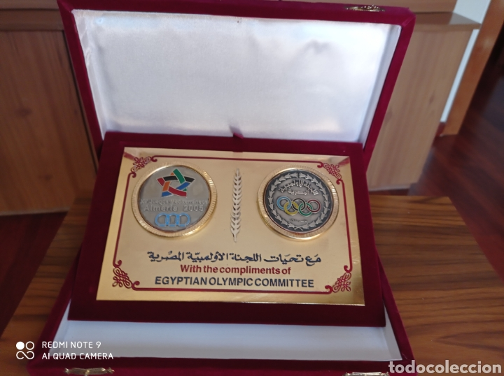 ALMERÍA JUEGOS MEDITERRÁNEOS 2005 PLACA OFICIAL COMITE OLIMPICO EGIPTO (Coleccionismo Deportivo - Medallas, Monedas y Trofeos - Otros deportes)