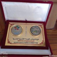 Coleccionismo deportivo: ALMERÍA JUEGOS MEDITERRÁNEOS 2005 PLACA OFICIAL COMITE OLIMPICO EGIPTO. Lote 235634745