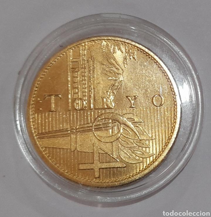 Coleccionismo deportivo: 6 Monedas Olimpiadas Oro Laminado, diferentes. - Foto 5 - 240145985