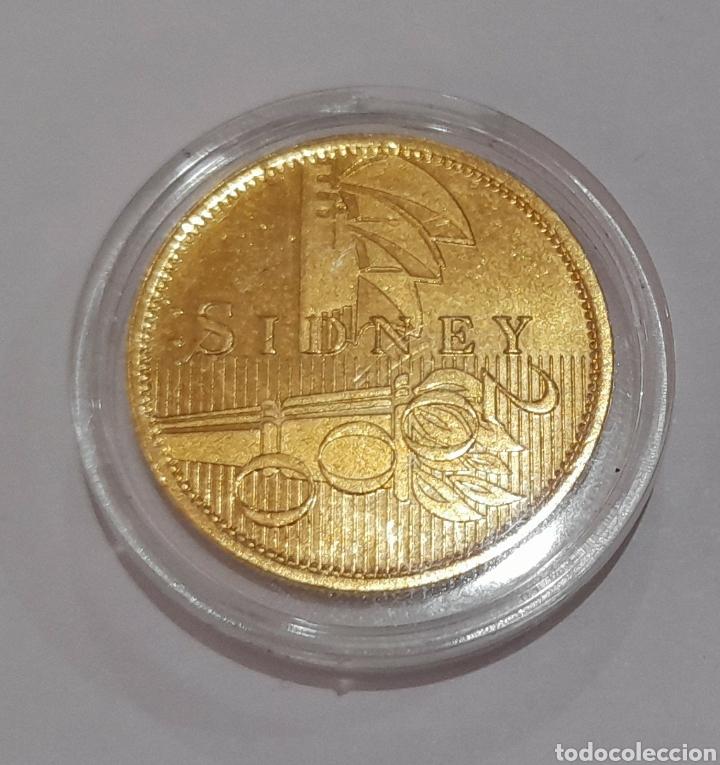Coleccionismo deportivo: 6 Monedas Olimpiadas Oro Laminado, diferentes. - Foto 14 - 240145985
