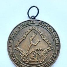 Coleccionismo deportivo: MEDALLA UNIÓN SOVIÉTICA. URSS. MEDALLÓN GIMNASIA. 1970. Lote 240195350