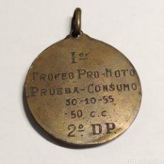 Collectionnisme sportif: RESERVADO F*****N PRUEBA DE CONSUMO TROFEO PRO-MOTO 30-10-1955 AUTÓDROMO TERRAMAR DE SITGES. Lote 240731380
