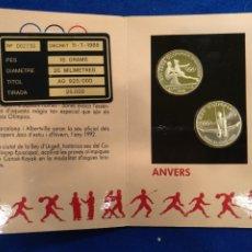 Coleccionismo deportivo: 2 MEDALLAS DE JUEGOS OLÍMPICOS DE 1992, PLATA, VERGUERIA EPISCOPAL ANDORRA.. Lote 241006760