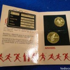 Coleccionismo deportivo: 2 MEDALLAS DE JUEGOS OLÍMPICOS DE 1992, PLATA, VERGUERIA EPISCOPAL ANDORRA.. Lote 241007415