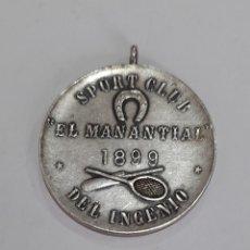 Coleccionismo deportivo: MEDALLA PLATA LEY AÑO 1899 BELLAGAMBA Y ROSSI MUY RARA ESPECIAL COLECCIONISTAS. VER FOTOS. Lote 246484050
