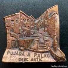 Coleccionismo deportivo: PLACA PUJADA DE BAGÀ A COLL DE PAL 1997. Lote 248611675