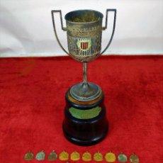 Coleccionismo deportivo: TROFEO Y MEDALLAS DE CAMPEONATOS DE VELA GANADOS POR EL BARCO AVANT II. ESPAÑA. CIRCA 1925. Lote 250292200