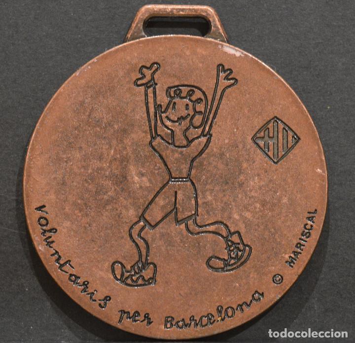 Coleccionismo deportivo: MEDALLA OLIMPIADAS 1992 BARCELONA 92 VOLUNTARIOS MARISCAL RARA - Foto 3 - 252139900