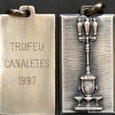 Coleccionismo deportivo: MEDALLA TROFEO CANALETES 1997 ATLETISMO BARCELONA. Lote 252154375