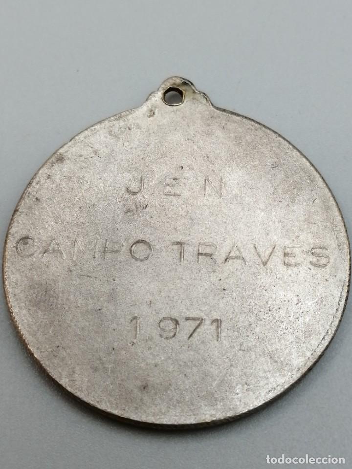 Coleccionismo deportivo: Medalla maratón J. E. N Campo Través 1971 - Foto 2 - 252238745