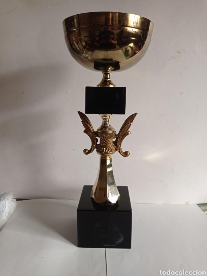 TROFEO DE METAL / PVC Y MADERA / SIN PLACA / MUY NUEVO (Coleccionismo Deportivo - Medallas, Monedas y Trofeos - Otros deportes)
