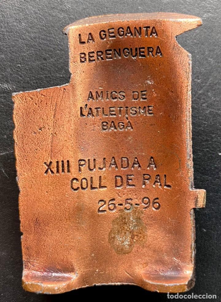 Coleccionismo deportivo: placa PUJADA A COLL DE PAL 1996 - Foto 2 - 260643265