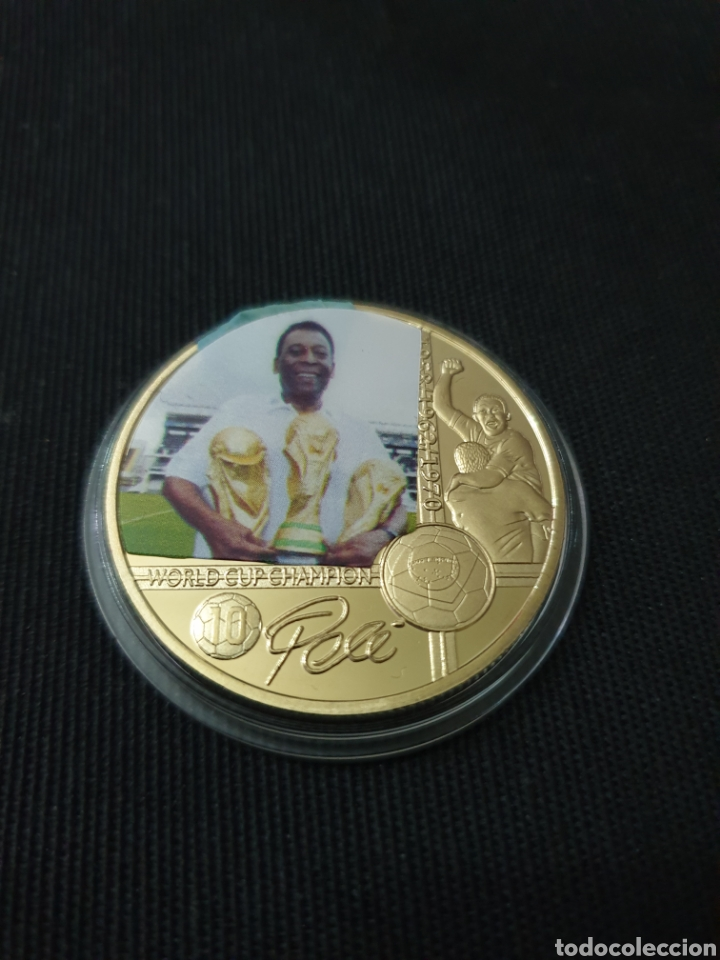 MONEDA ONZA CONMEMORATIVA PELE (Coleccionismo Deportivo - Medallas, Monedas y Trofeos - Otros deportes)