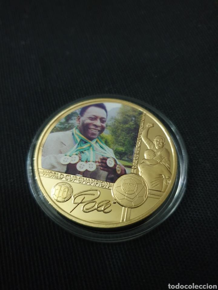 MONEDA ONZA PELE (Coleccionismo Deportivo - Medallas, Monedas y Trofeos - Otros deportes)