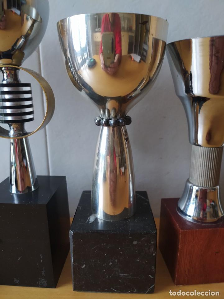 Coleccionismo deportivo: LOTE DE 6 TROFEOS TIRO OLIMPICO, TEMATIZADOS AIRE COMPRIMIDO. - Foto 4 - 261943120