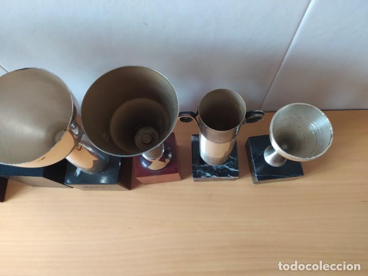 Coleccionismo deportivo: LOTE DE 6 TROFEOS TIRO OLIMPICO, TEMATIZADOS AIRE COMPRIMIDO. - Foto 8 - 261943120