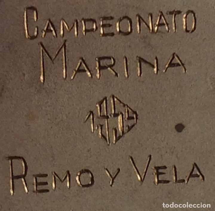 Coleccionismo deportivo: ANTIGUA MEDALLA CAMPEONATO MARINA, REMO Y VELA - Foto 2 - 262467665
