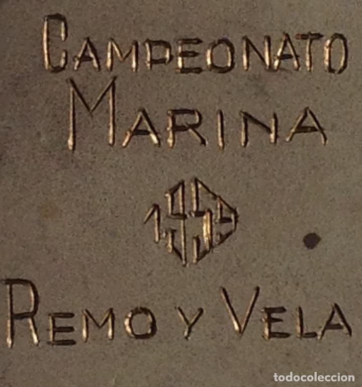 Coleccionismo deportivo: ANTIGUA MEDALLA CAMPEONATO MARINA, REMO Y VELA - Foto 3 - 262467665