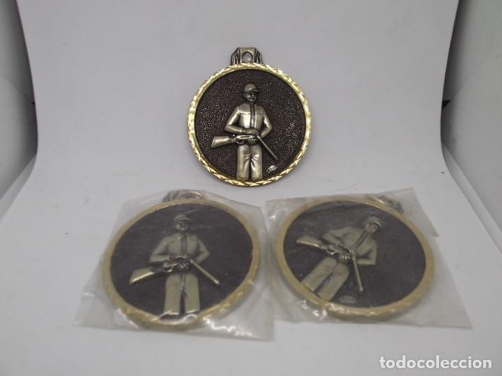Coleccionismo deportivo: 3 Medallas de Caza antiguas.Cebrian (bronce forjado).Nuevas - Foto 2 - 263762615