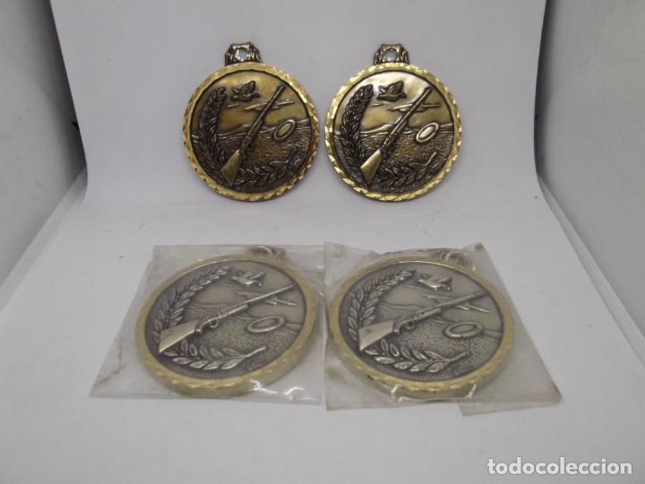 Coleccionismo deportivo: 4 Medallas antiguas de tiro al plato.Cebrian.Nuevas - Foto 4 - 263764245