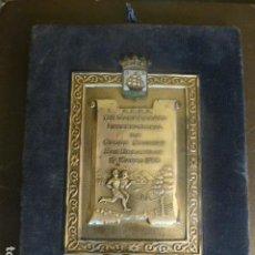 Collezionismo sportivo: SAN SEBASTIAN SOCIEDAD ESPAÑOLA DE ATLETISMO PLACA Y MEDALLA XII CAMPEONATO DE CROSS COUNTRY 1955. Lote 263877655