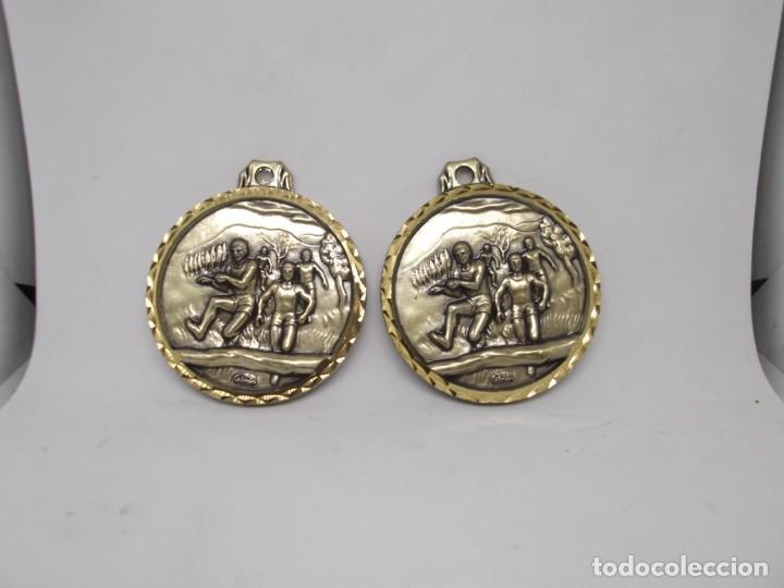 2 MEDALLAS DE CARRERA DE OBSTACULOS.CEBRIAN,VINTAGE (Coleccionismo Deportivo - Medallas, Monedas y Trofeos - Otros deportes)