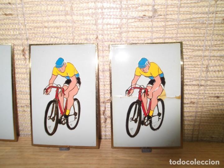 Coleccionismo deportivo: 5 Placas medallas de ciclismo.Vintage - Foto 4 - 266132508