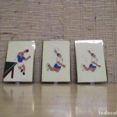 Coleccionismo deportivo: 3 CHAPAS MEDALLAS DE TENIS DE MESA Y VOLEY PLAYA.. Lote 266136318