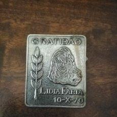 Coleccionismo deportivo: PLACA AGRADECIMIENTO ATLETA LIDIA FARIA. PORTUGAL.. Lote 275689878