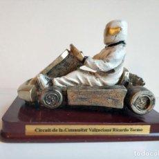 Coleccionismo deportivo: BONITO TROFEO KART - COCHE CIRCUIT DE LA COMUNITAT VALENCIANA RICARDO TORMO. Lote 275868143